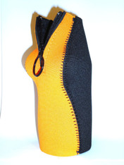 Bottle Koozie ~ Bottle Size~ Orange/Black ~ 22103