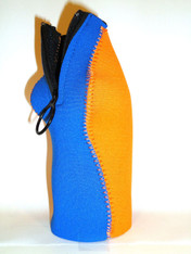 Bottle Koozie ~ Royal Blue/Orange ~ 22107