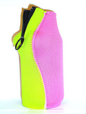 Bottle Koozie ~ Lime Green/Pink ~ 22109