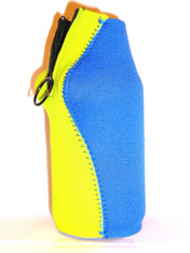 Bottle Koozie ~ Lime Green/Royal Blue ~ 22110