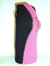 Bottle Koozie ~ Pink/Black with Pink Ribbon ~ 22301