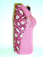 Bottle Koozie ~ Pink/Cheetah Pink Ribbon  ~ 22314