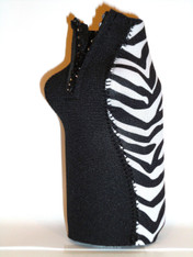 Bottle Koozie ~ Safari Zebra Diamonds ~ 22417