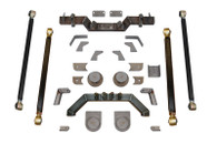 """TJ Pro Series Rear Long Arm Upgrade Kit W/7"""" Double Triangulated Stretch Clayton Offroad"""