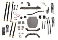 """XJ  6.5"""" Pro Series 3 Link Long Arm Lift Kit W/Rear Coil Conversion Clayton Offroad"""