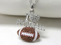 Football-I Love Necklace