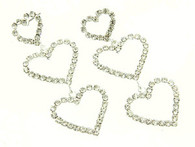 Crystal Three Tiered Heart Earrings