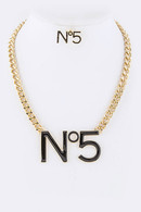 No5 Inspired Necklace Set
