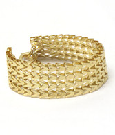 Chevron Pattern Chain Bracelet - Gold
