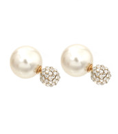 Bling Pearl  Stud Earrings