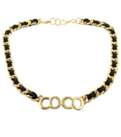 Coco Black Necklace & Earring Set