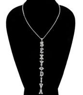 Sexy Diva Drop Link Necklace