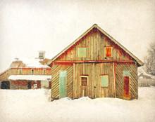 Red Barn with Tin Windows, near North Liberty, IA