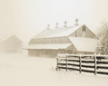 East Amana Barns on Snowy Morning, East Amana, IA