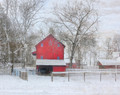 Red Barn in Winterset, IA