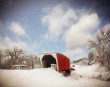 Covered Bridge on Snowy Morn, Winterset, IA
