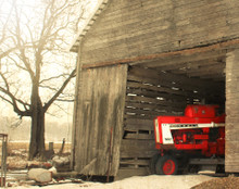 Farmall in Iowa County Crib, Near Amana, IA
