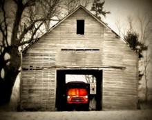 Red Dodge in Old Crib, Near Walford, IA