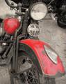 Vintage Red Harley