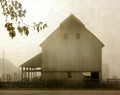 High Barn in Morning Fog
