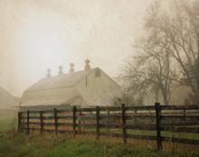 East Barn in Morning Fog, East Amana, IA