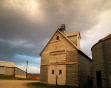 High Barns on Stormy Morning