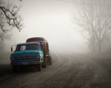 Old Ford in Morning Fog, Oxford, IA