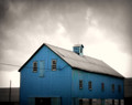 Blue Barn in Storm #3, High Amana, IA