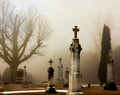 Oxford Cemetery on Foggy Morn, Oxford Iowa