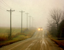 Country Road on Foggy Morn, Amana, IA