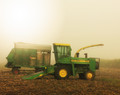 John Deere on a Foggy Summer Morn, Amana, IA