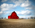 Red Barn in Clouds, Johnson Co. IA