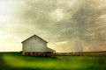 West Amana Barn in Spring Shower, West Amana, IA