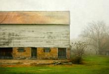 East Amana Barn in Spring Fog, East Amana, IA