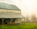 Middle Amana Barn in Spring Fog