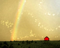 The Little Red Barn and the Rainbow, Swisher, IA