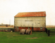 Barn and Bales, East Amana, IA