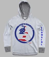 American Flag Snow Skier
