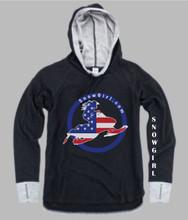 American Flag Snowmobiler