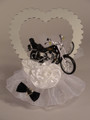 Ride of a Lifetime Motorcycle Cake Topper (Heart)
