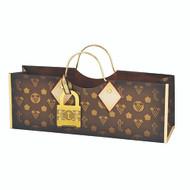 Monogrammed Handbag Style Wine Bag