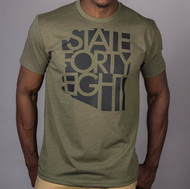 State Forty Eight - Green & Black Crew, Unisex