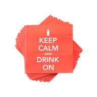 'Keep Calm and Drink On' Napkins