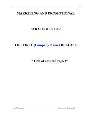 A Marketing Plan outlines the specific actions you intend to carry out to interest potential customers and clients in your product and/or service and persuade them to buy the product and/or services you offer. 1 of 9 pages