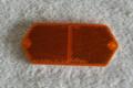 Hood reflector lens (amber)