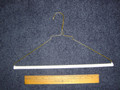 16 Inch Gold Wire Clothes Hanger w/ Tube Strut Box of 250