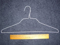 18 Inch White 14.5 Gauge Wire Clothes Hangers Box of 500
