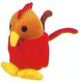 Rooster Squeaky Baby 5""