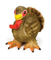 Turkey Large Latex Squeeze Meeze Dog Toy