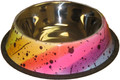 Stainless Steel 24oz Rainbow Non-Tip/Skid Pet Food Bowl
